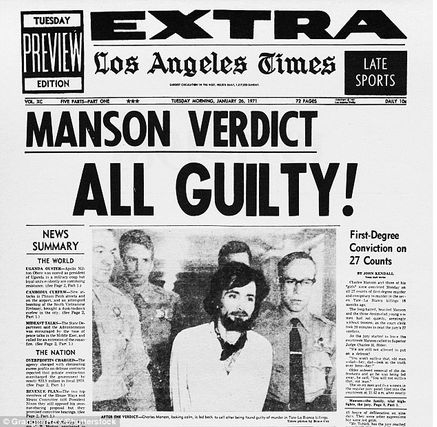 Manson verdict guilty news article